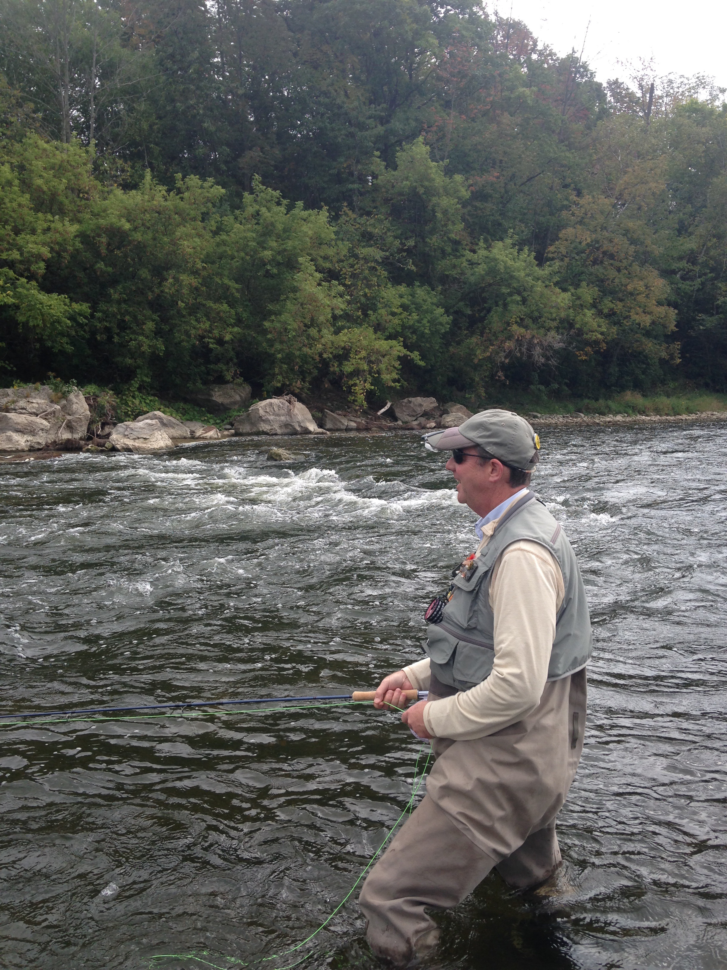 Fly fishing school learn how to fly fish on the grand for The fishing school